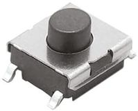 Ivory Plunger Tactile Switch, Single Pole Single Throw (SPST) 50 mA @ 24 V dc 1.7mm