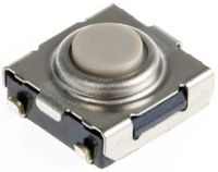 Button Tactile Switch, SPST-NO 50 mA @ 24 V dc