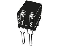 2 Way Through Hole DIP Switch SPST, Lever Actuator