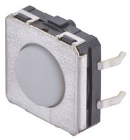 IP67 White Plunger Tactile Switch, Single Pole Single Throw (SPST) 50 mA @ 24 V dc 0.75mm