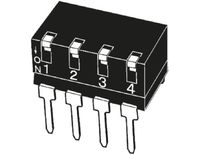 4 Way Through Hole DIP Switch SPST, Lever Actuator