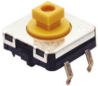 IP67 White Plunger Tactile Switch, Single Pole Single Throw (SPST) 50 mA @ 24 V dc 3mm